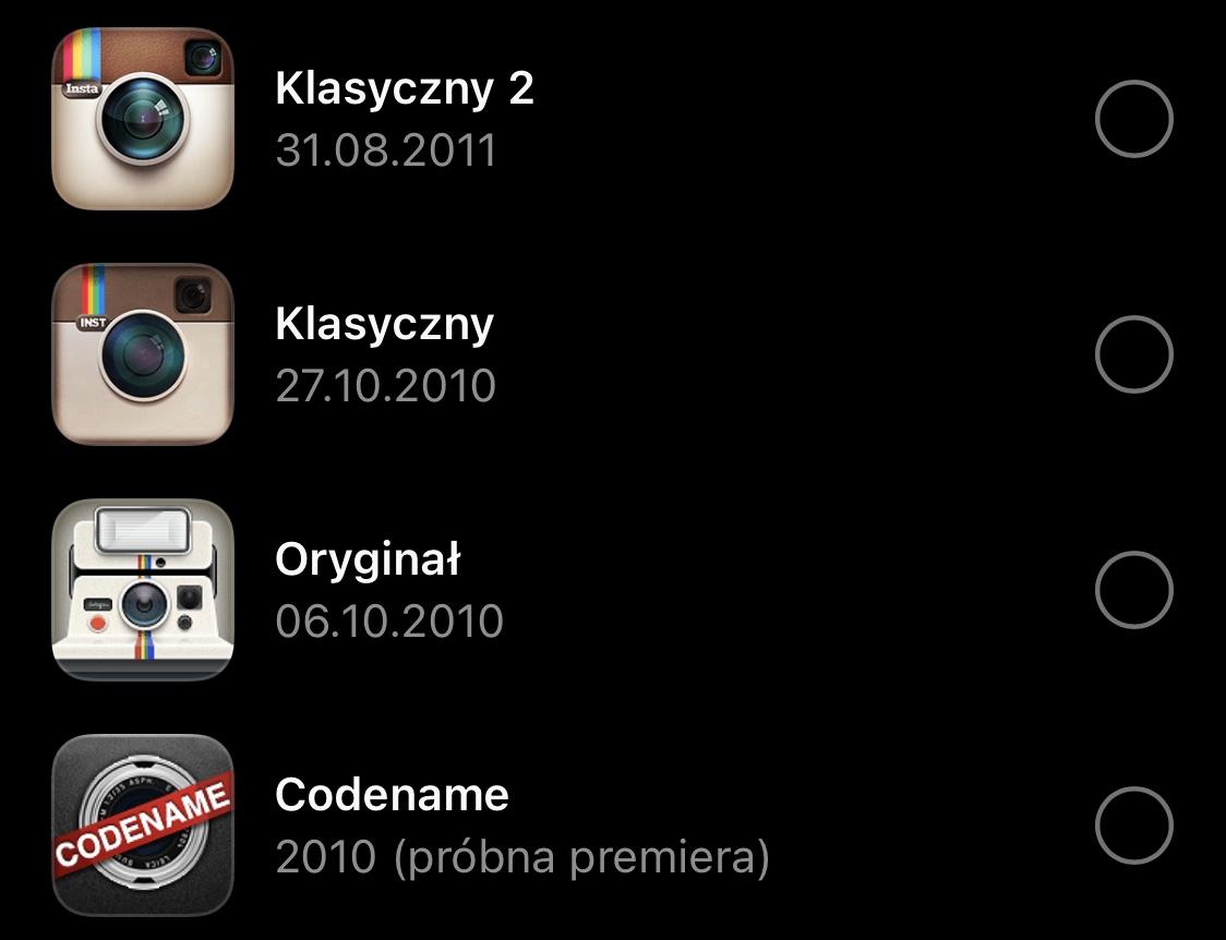 stare ikony instagrama