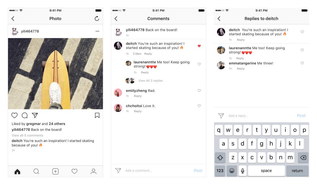 Komentowanie na Instagramie